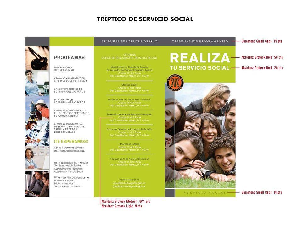 TRÍPTICO DE SERVICIO SOCIAL