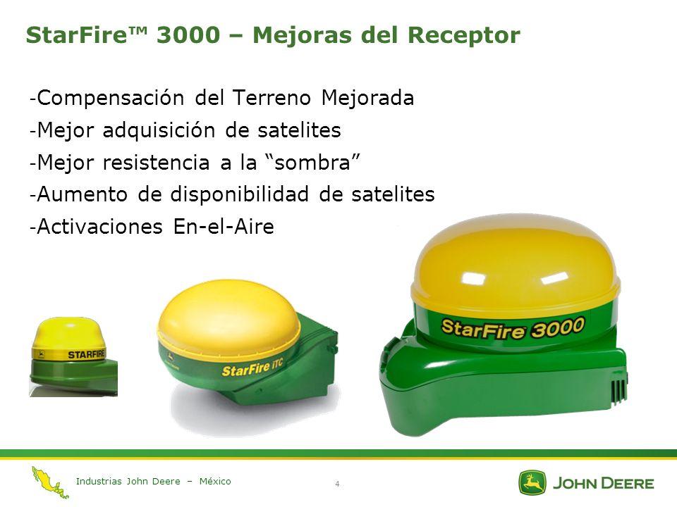 StarFire™ 3000 – Mejoras del Receptor