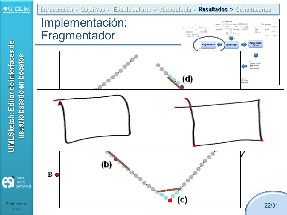 Implementación: Fragmentador Alternativas: