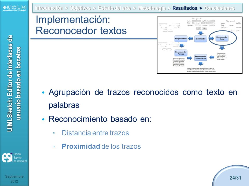 Implementación: Reconocedor textos