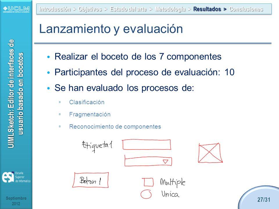 Lanzamiento y evaluación