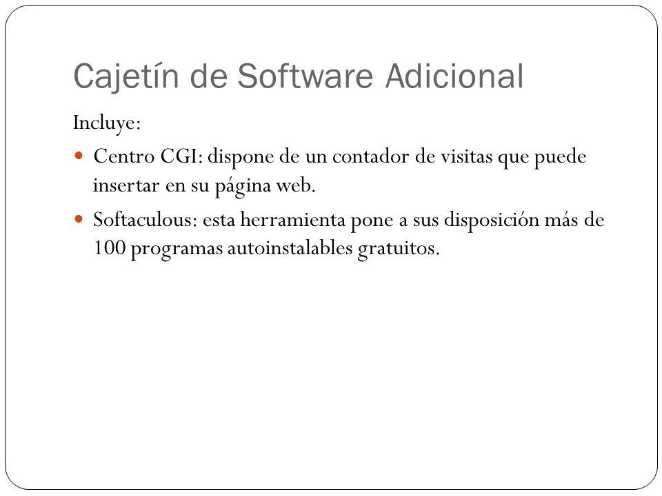Cajetín de Software Adicional
