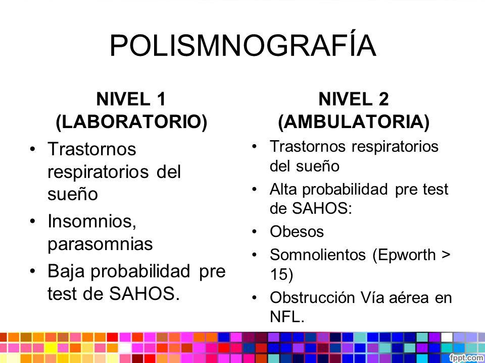 POLISMNOGRAFÍA NIVEL 1 (LABORATORIO)