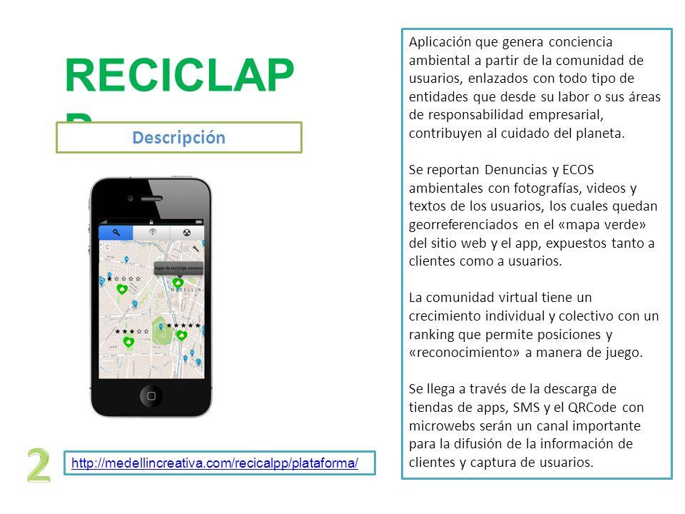 2 RECICLAPP Descripción