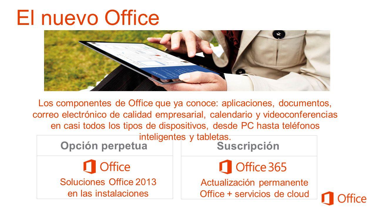 El nuevo Office Opción perpetua Suscripción