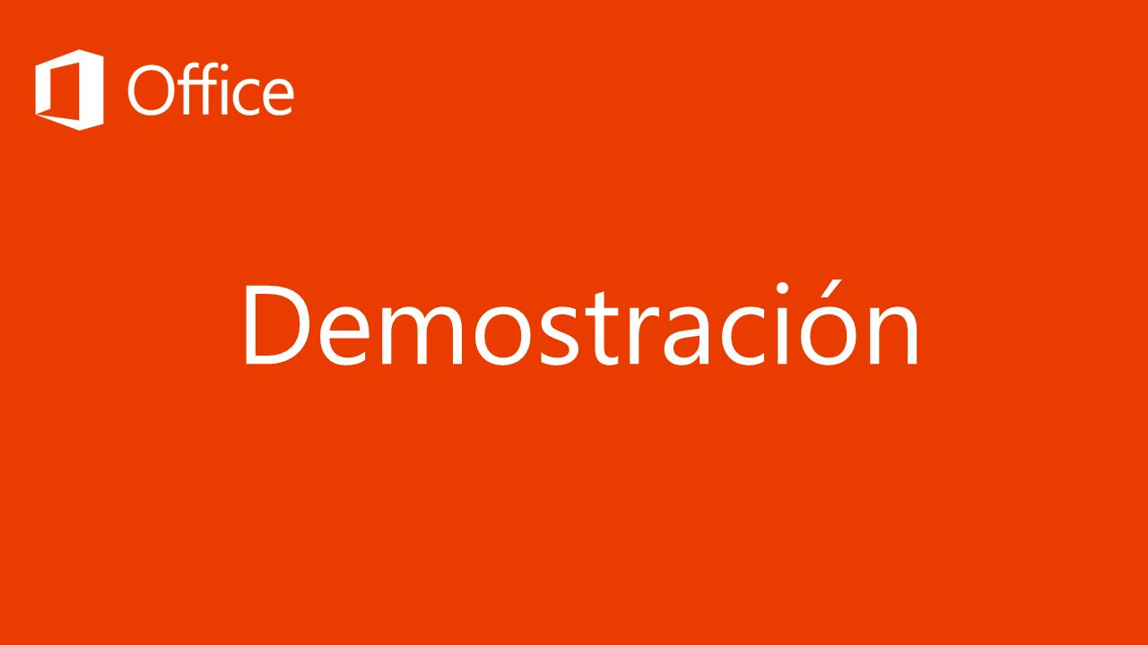 Demostración 20 minutos para la demostración de Office