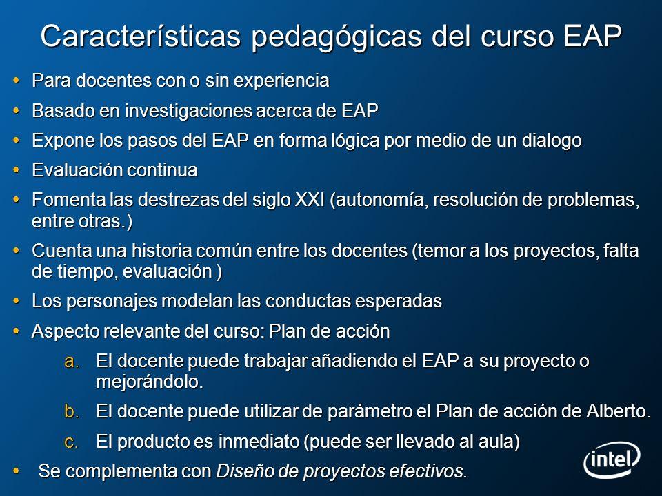 Características pedagógicas del curso EAP