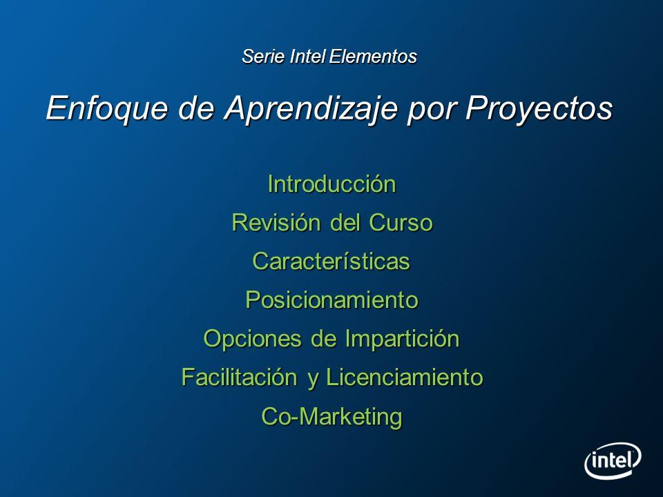 Serie Intel Elementos Enfoque de Aprendizaje por Proyectos