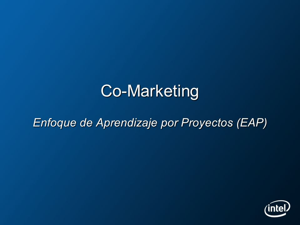 Co-Marketing Enfoque de Aprendizaje por Proyectos (EAP)
