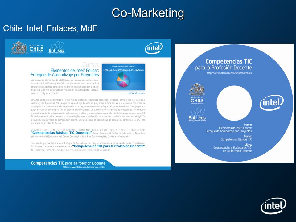 Co-Marketing Chile: Intel, Enlaces, MdE