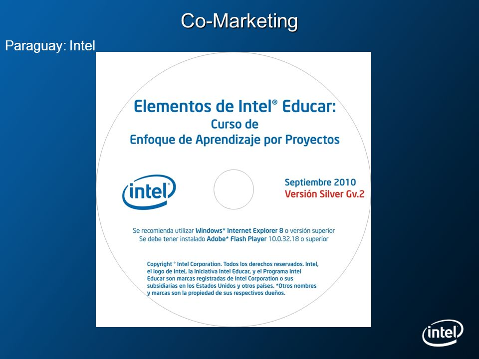 Co-Marketing Paraguay: Intel