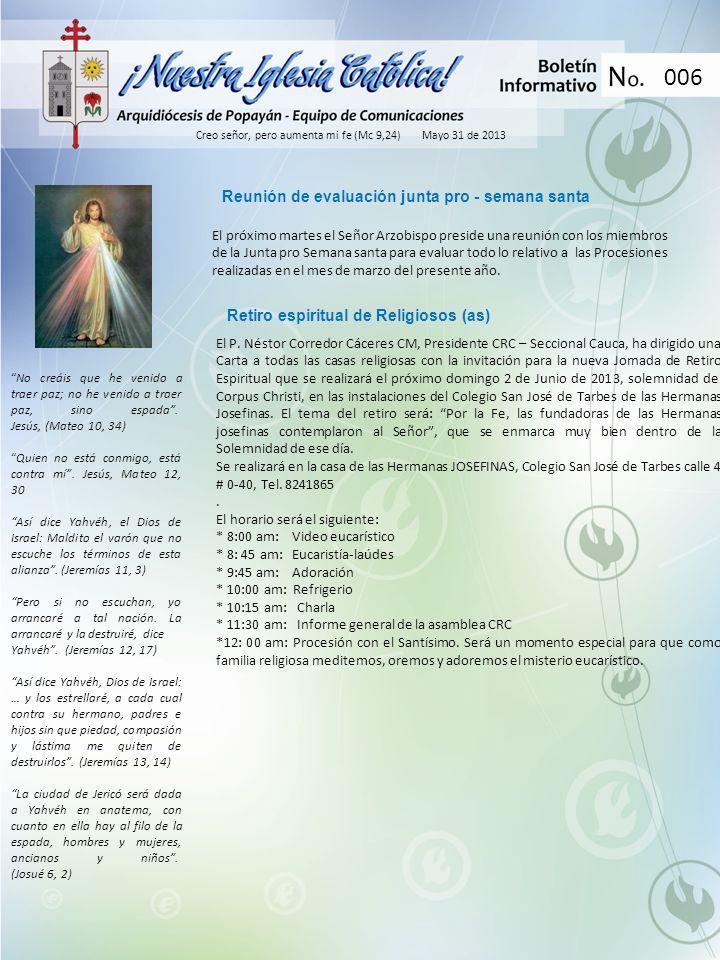 006 Reunión de evaluación junta pro - semana santa