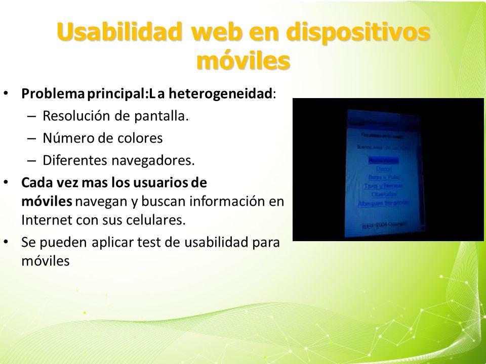 Usabilidad web en dispositivos móviles