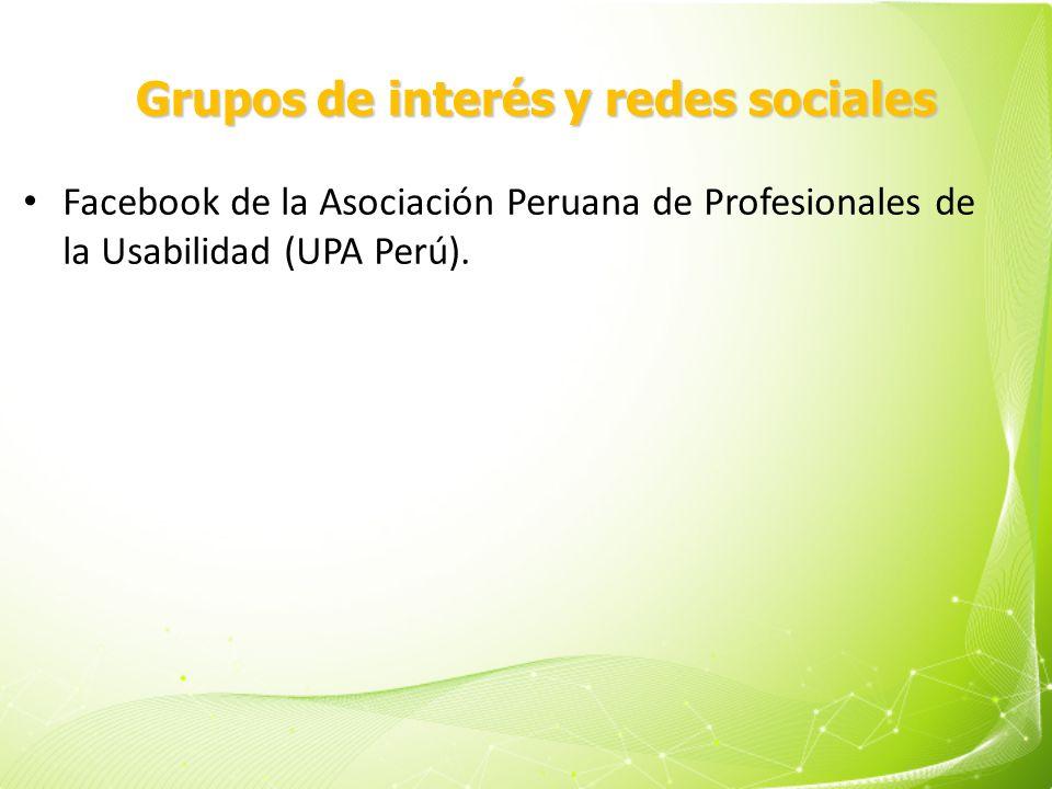 Grupos de interés y redes sociales