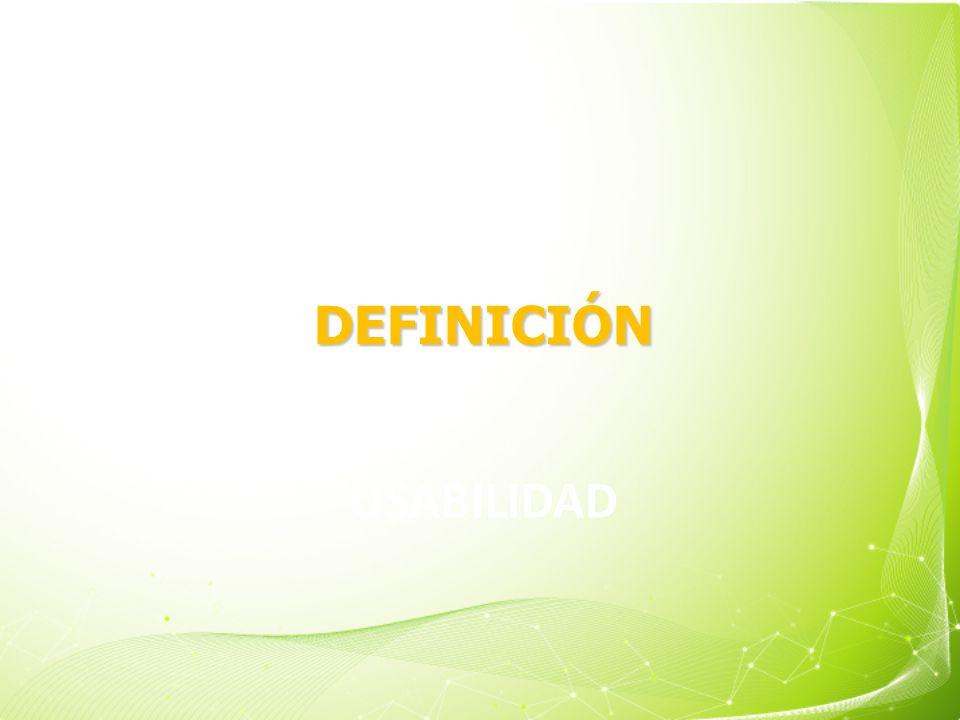 DEFINICIÓN Usabilidad 4