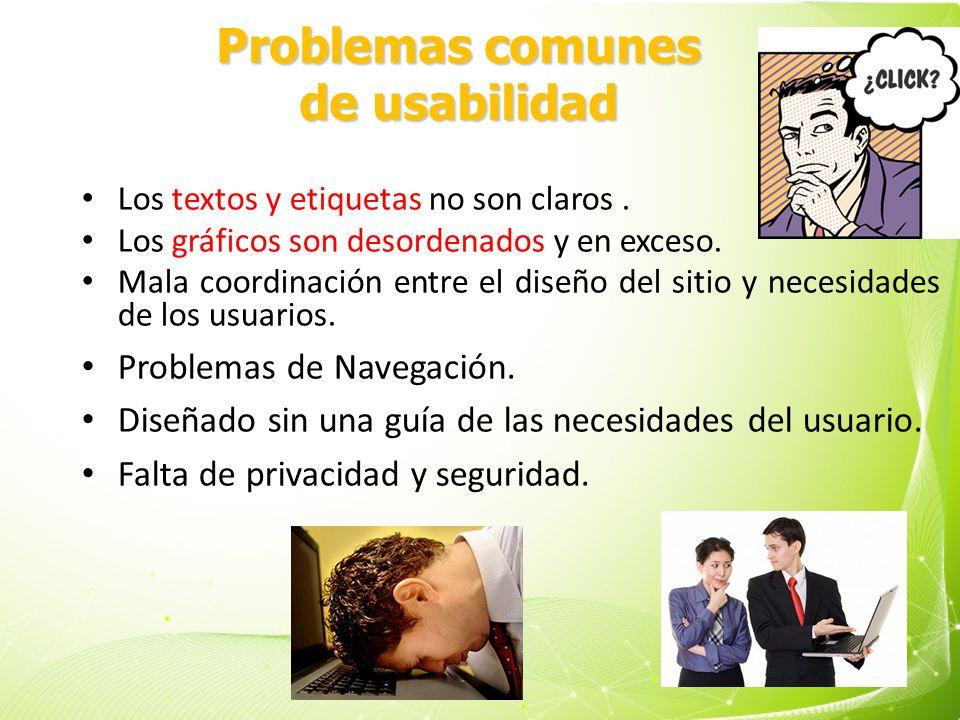 Problemas comunes de usabilidad