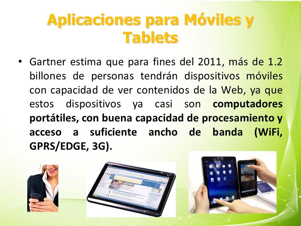 Aplicaciones para Móviles y Tablets