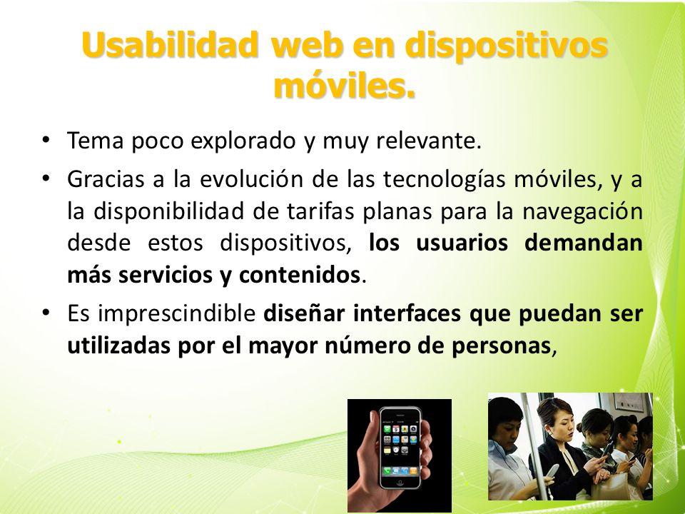 Usabilidad web en dispositivos móviles.