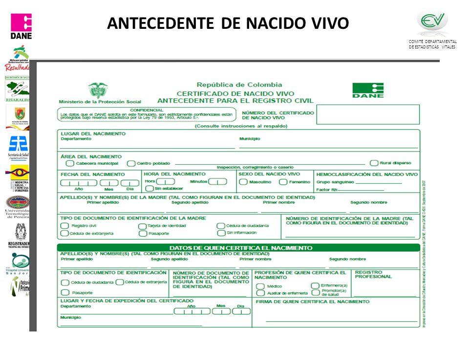 ANTECEDENTE DE NACIDO VIVO