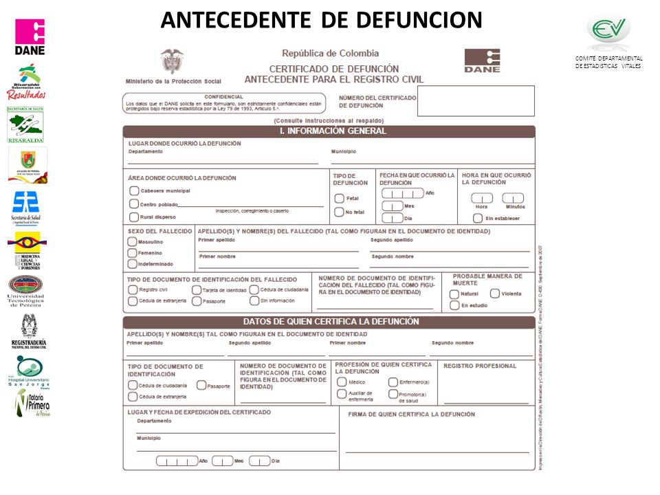 ANTECEDENTE DE DEFUNCION