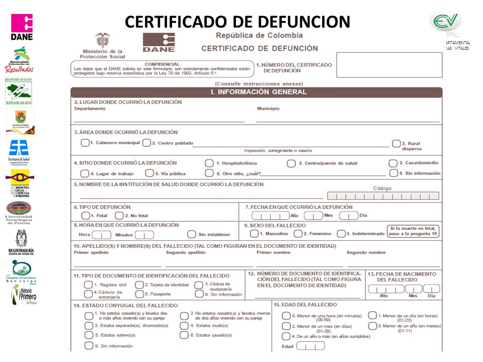 CERTIFICADO DE DEFUNCION