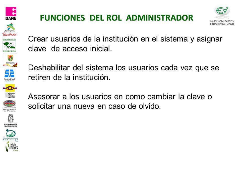 FUNCIONES DEL ROL ADMINISTRADOR