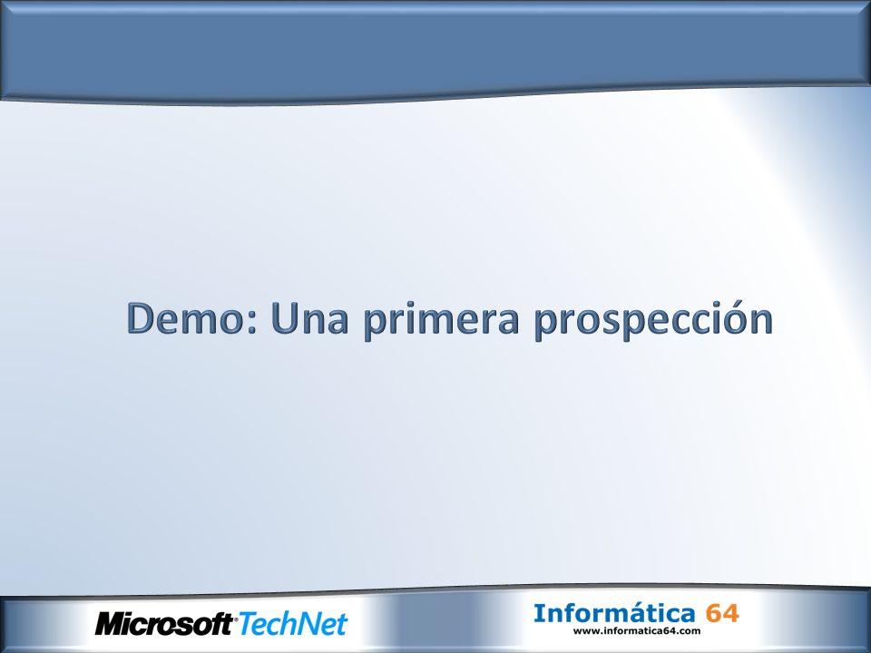 Demo: Una primera prospección