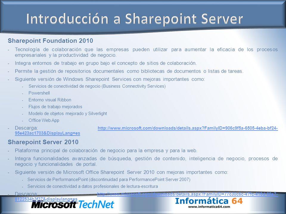Introducción a Sharepoint Server