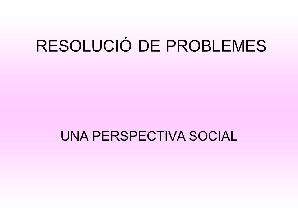 RESOLUCIÓ DE PROBLEMES