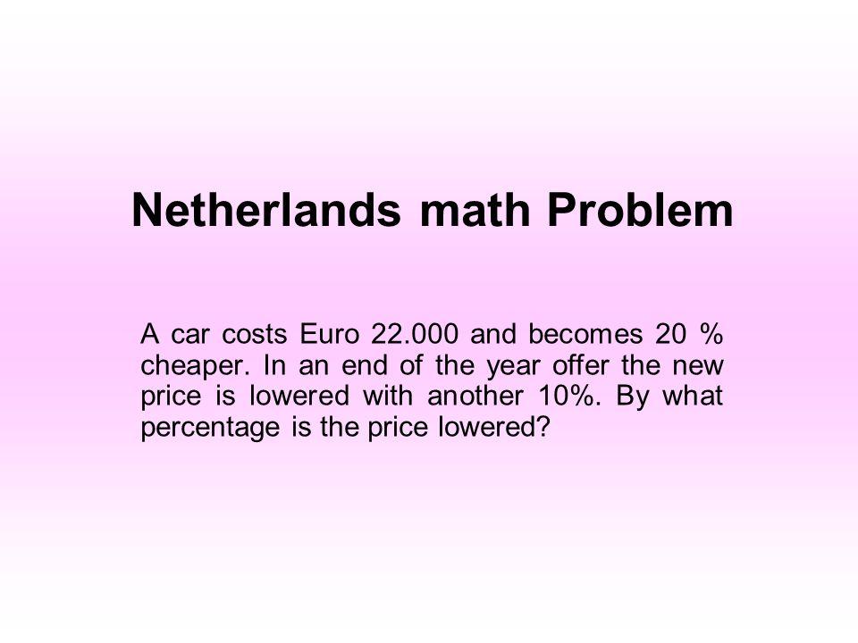 Netherlands math Problem