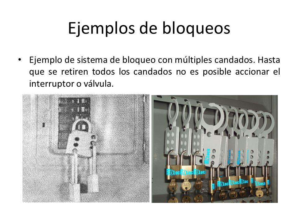 Ejemplos de bloqueos