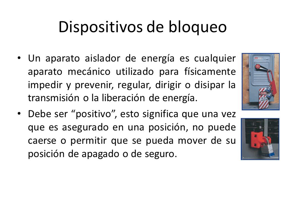 Dispositivos de bloqueo