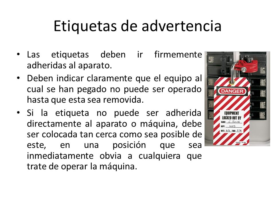 Etiquetas de advertencia