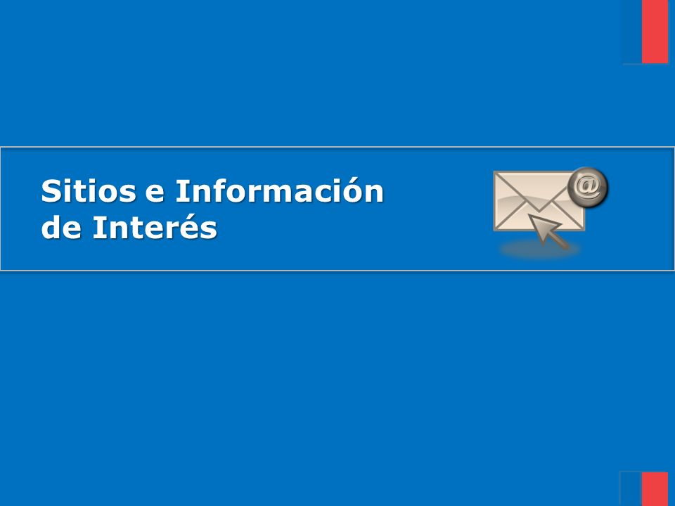 Sitios e Información de Interés