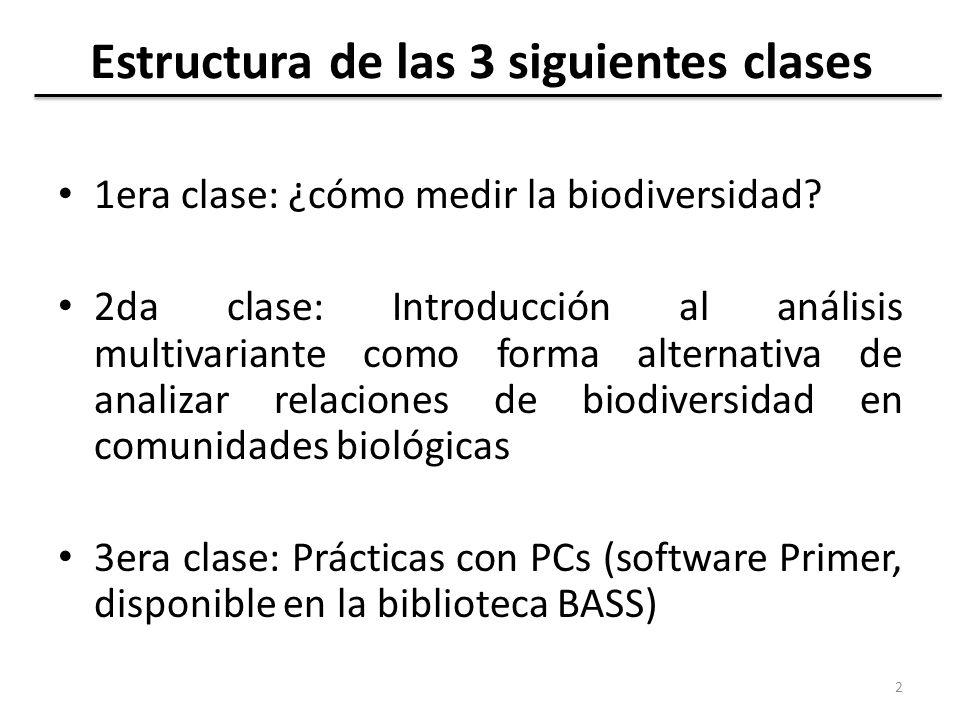 Estructura de las 3 siguientes clases