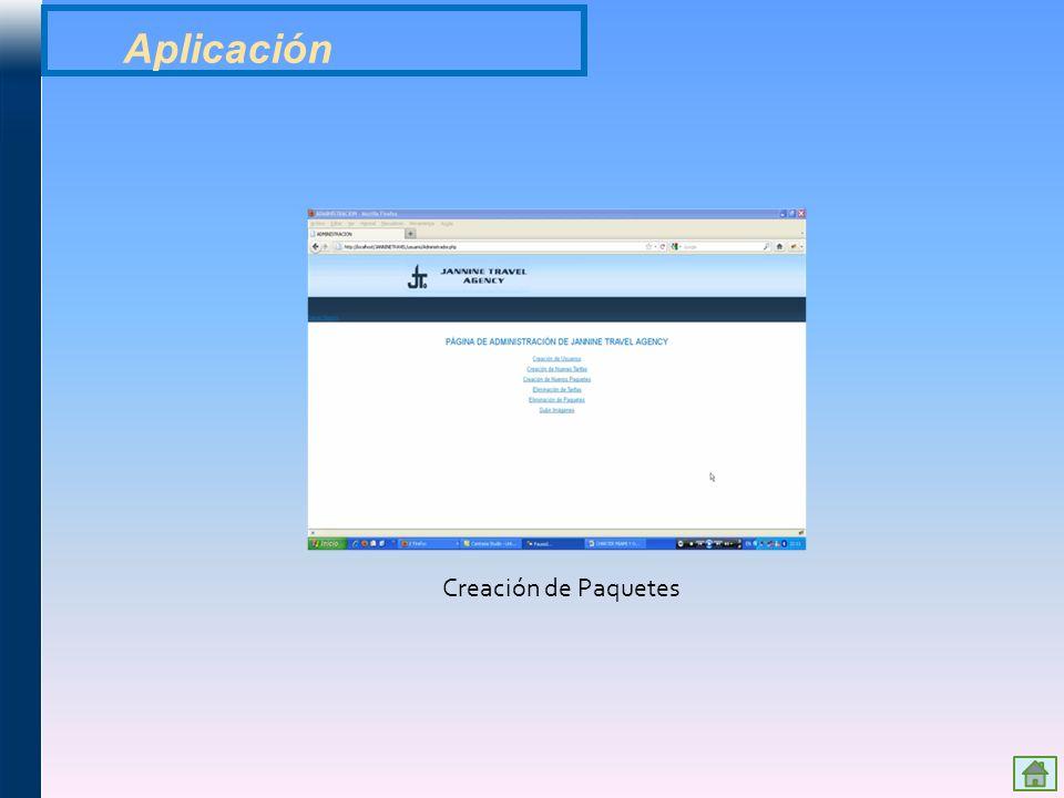 Aplicación Creación de Paquetes