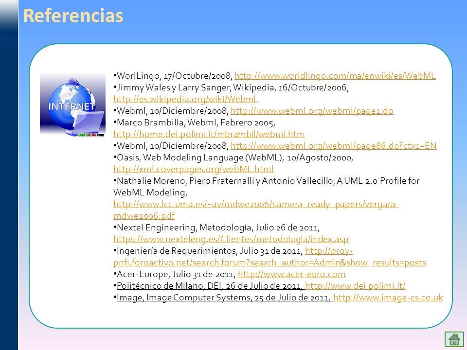 Referencias WorlLingo, 17/Octubre/2008, http://www.worldlingo.com/ma/enwiki/es/WebML.