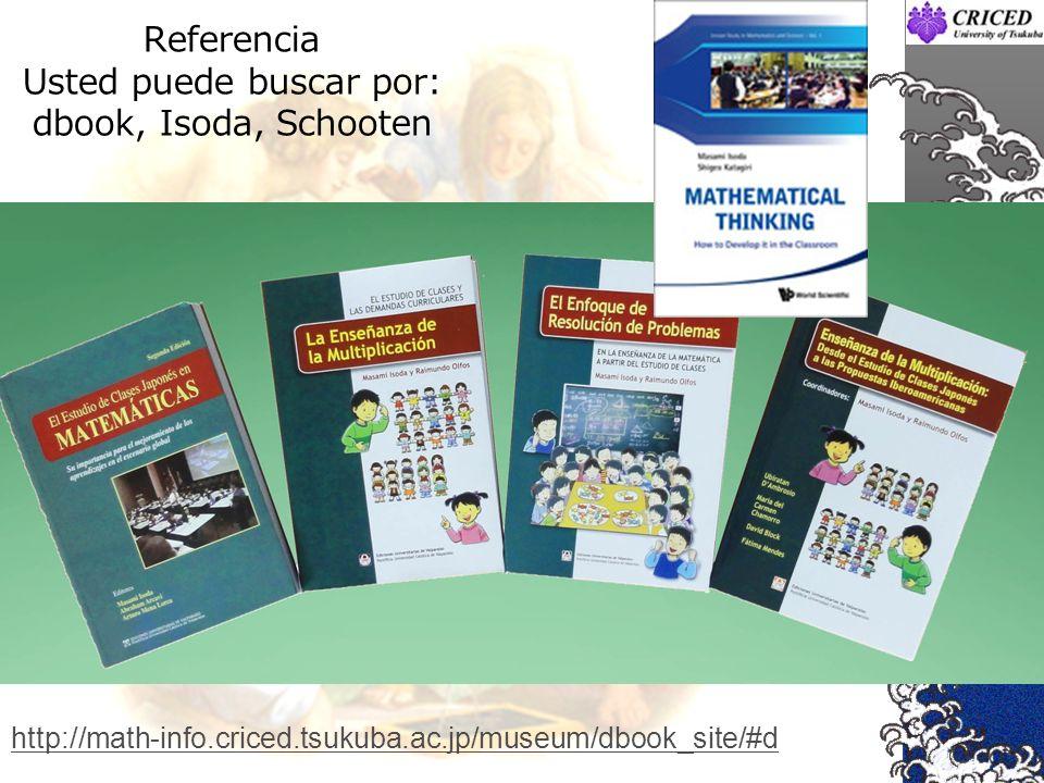 Referencia Usted puede buscar por: dbook, Isoda, Schooten