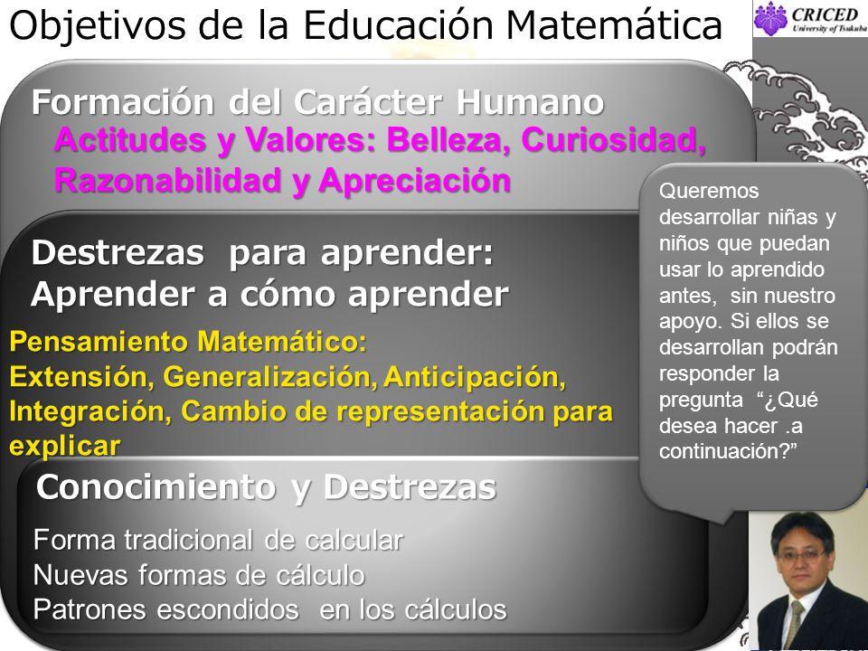 Objetivos de la Educación Matemática