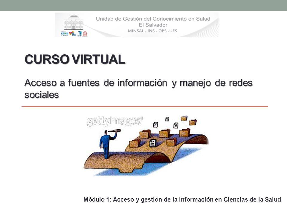 Curso Virtual Acceso a fuentes de información y manejo de redes sociales.