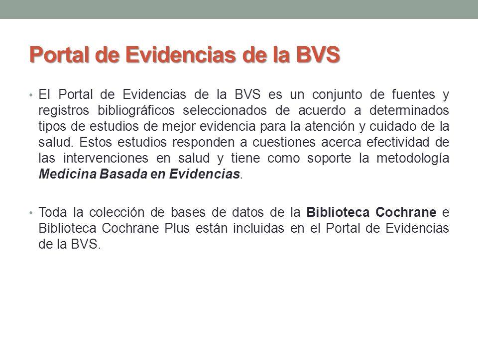Portal de Evidencias de la BVS