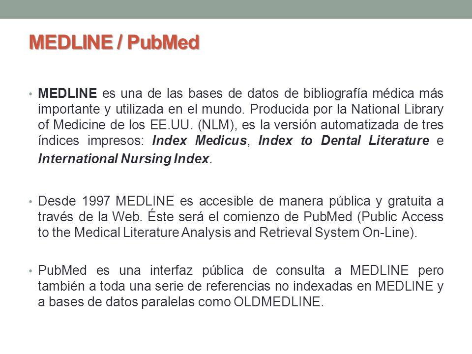 MEDLINE / PubMed