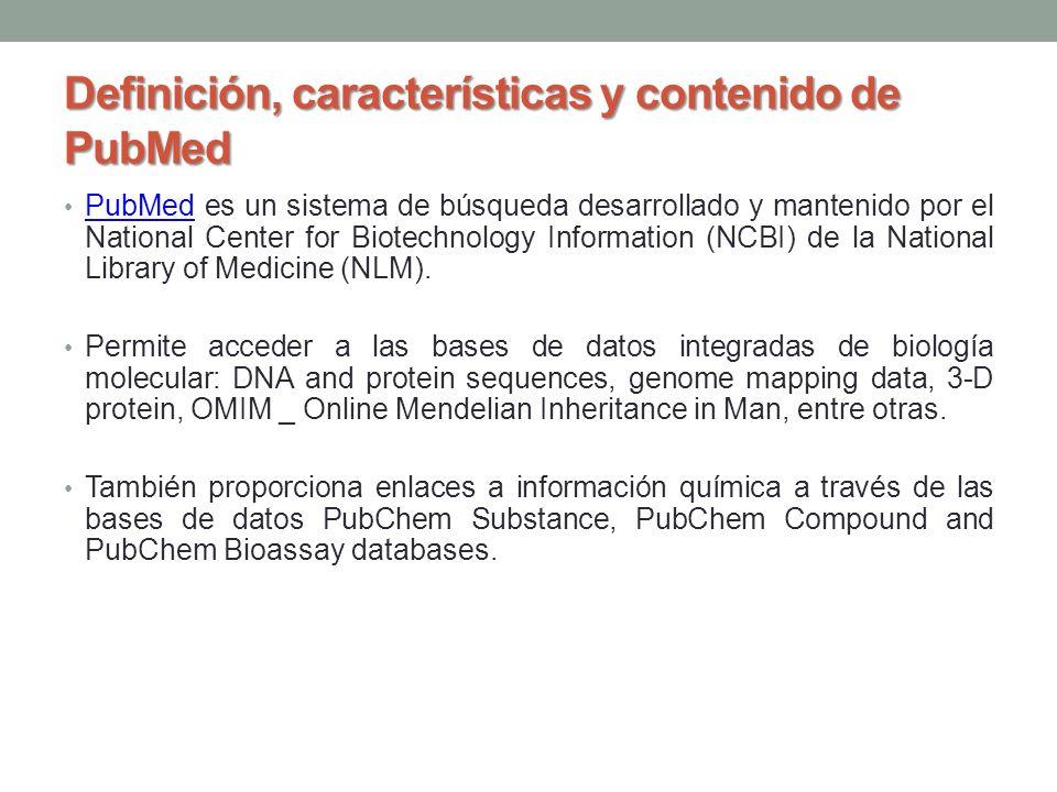 Definición, características y contenido de PubMed