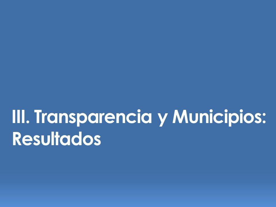 III. Transparencia y Municipios: