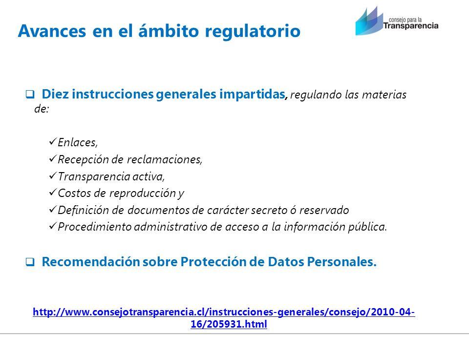Avances en el ámbito regulatorio