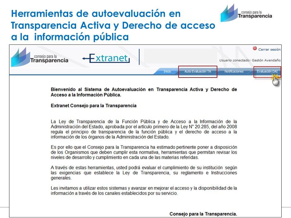 Herramientas de autoevaluación en Transparencia Activa y Derecho de acceso a la información pública