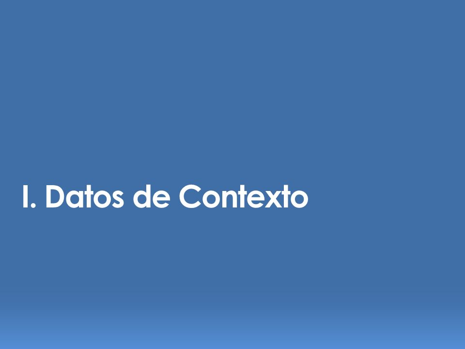 I. Datos de Contexto