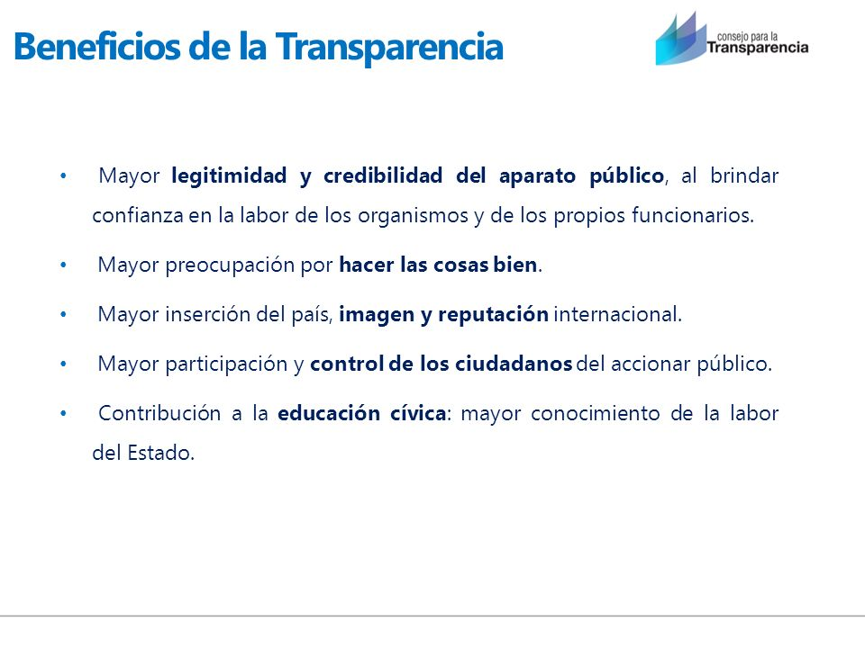Beneficios de la Transparencia