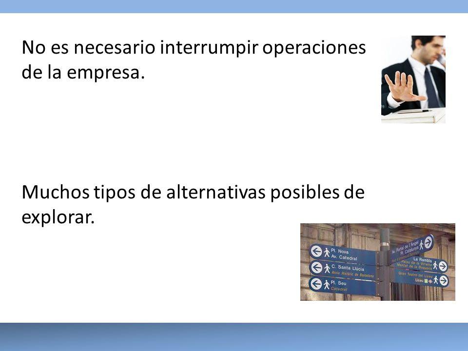 No es necesario interrumpir operaciones de la empresa.