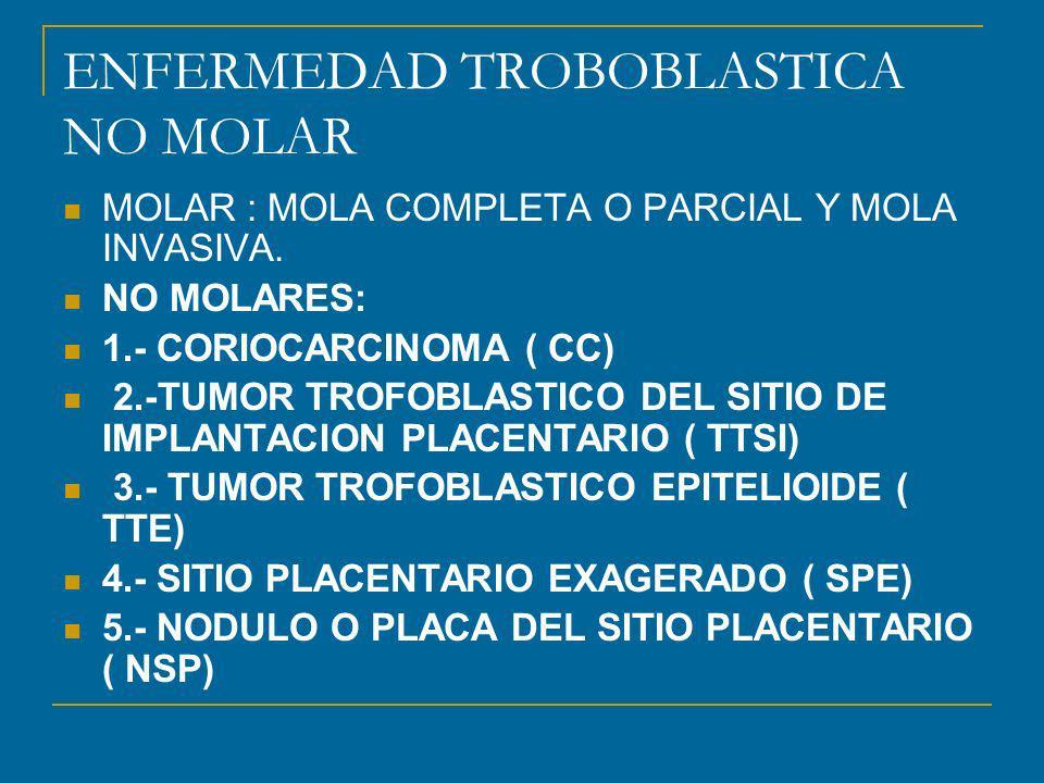 ENFERMEDAD TROBOBLASTICA NO MOLAR